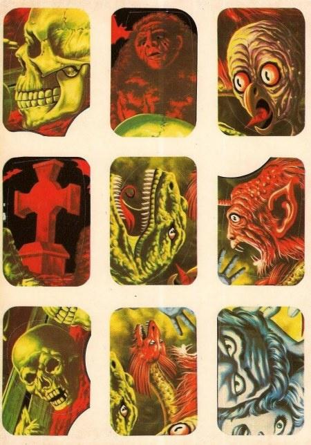 Vintage Monster Stickers