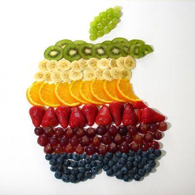frutas como um arco-íris, para decorar sua festa.