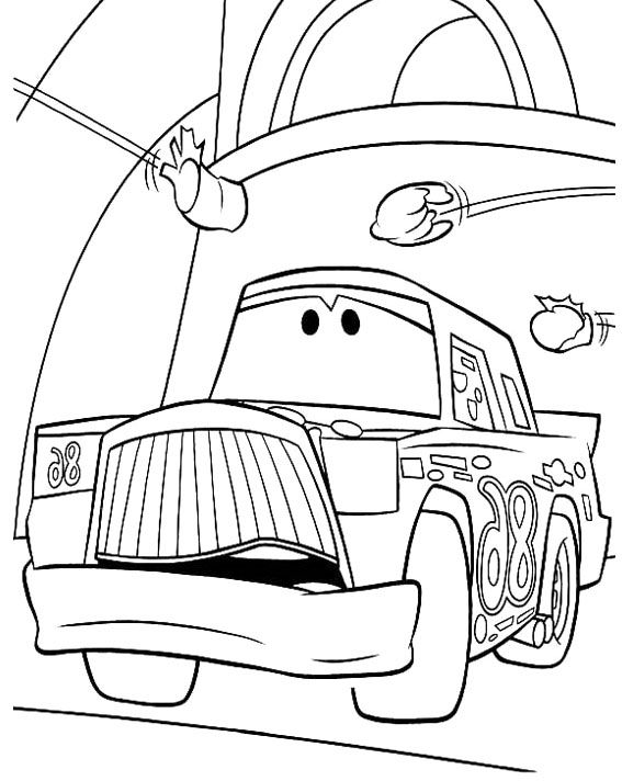 cars cartoon coloring pages - photo#8