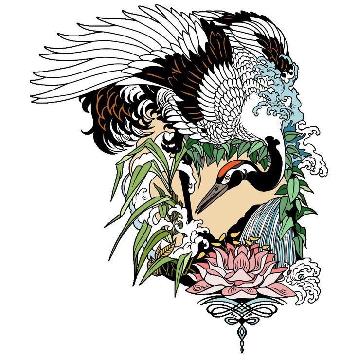 Pin by Joanne Algar on Joanne's Art in 2020 Crane bird