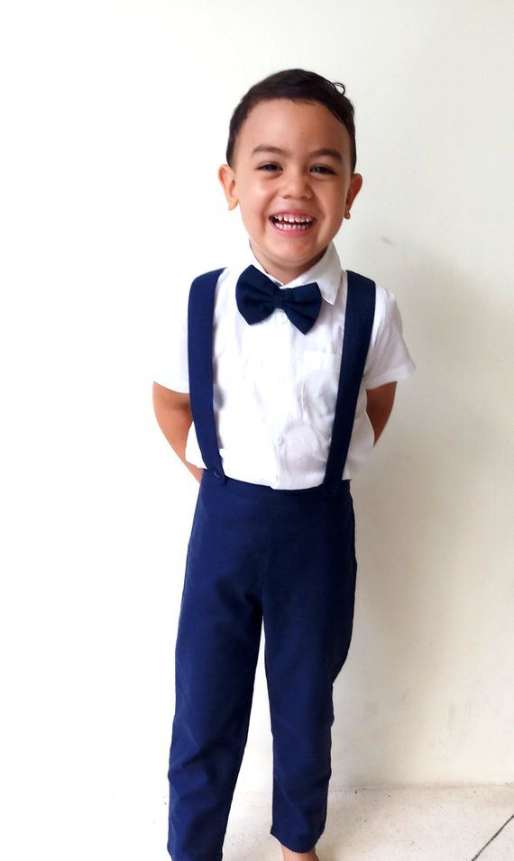 e3f9254ff 3 pcs. Boy Christening Outfit- Navy