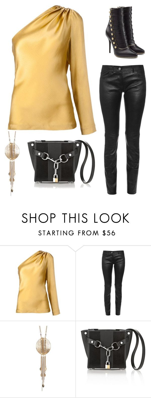 """""""Casual and chic"""" by im-karla-with-a-k ❤ liked on Polyvore featuring Cushnie Et Ochs, Balenciaga, Danielle Nicole, Alexander Wang and Balmain"""