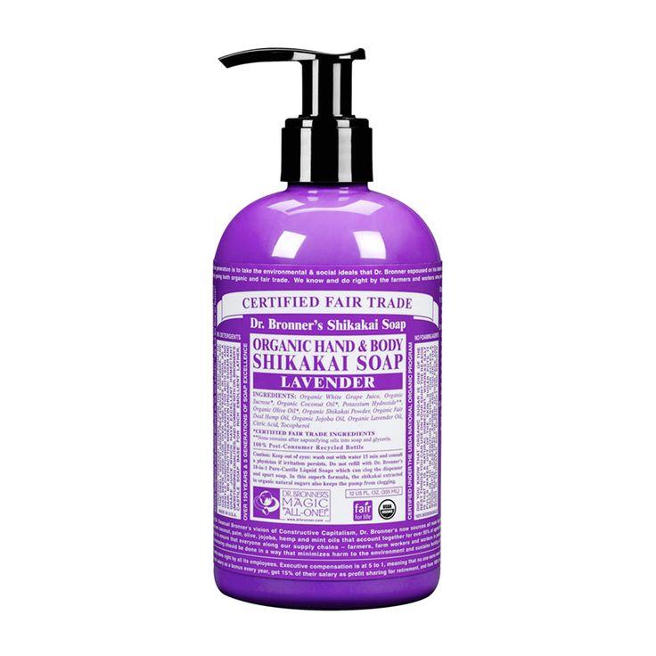 Dr. Bronner´s Tekuté mýdlo na tělo i vlasy Shikakai, Lavender 355 ml