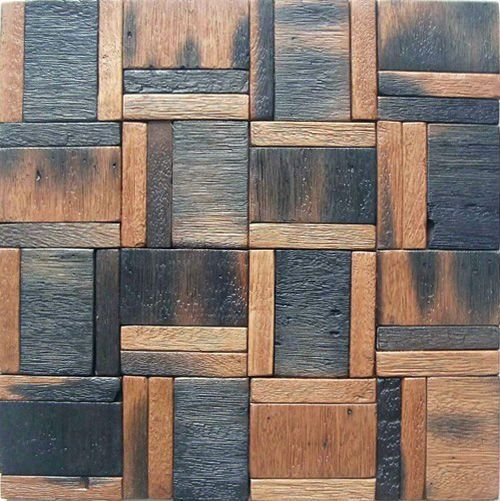 European Style Wood Mosaic Artwork Wall Tile.For Villa, Lounge, Hotel Lobby.
