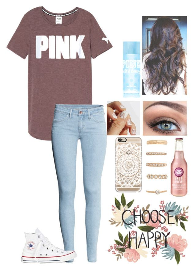 Untitled #142 by kaytlin-marie on Polyvore featuring H&M, Converse, Forever 21, Casetify, Victoria's Secret PINK, SoGloss and Victoria's Secret