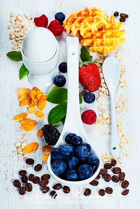 Healthy Breakfast.Oat flake, berries and coffee. Health and diet by Natalia Klenova on 500px