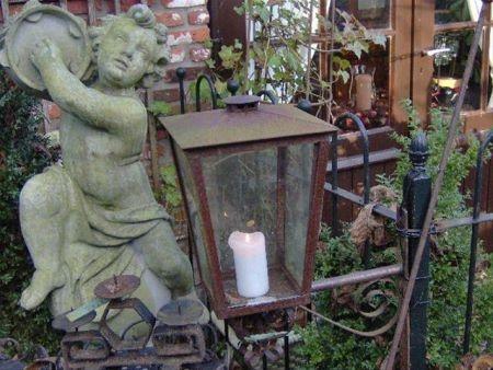 Kaarslantaarn buitenlamp-windlicht-lantaarn-lampen  rusty lantern