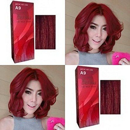 Berina Garnet Red Hair Dye A9 Hair Color Cream Dye 60G Pack of 2 Super Permanent Fashion Unisex Containing an innovative component which protects and provides glamor color to hair as desired ** You can find out more details at the link of the image. #hairdressing