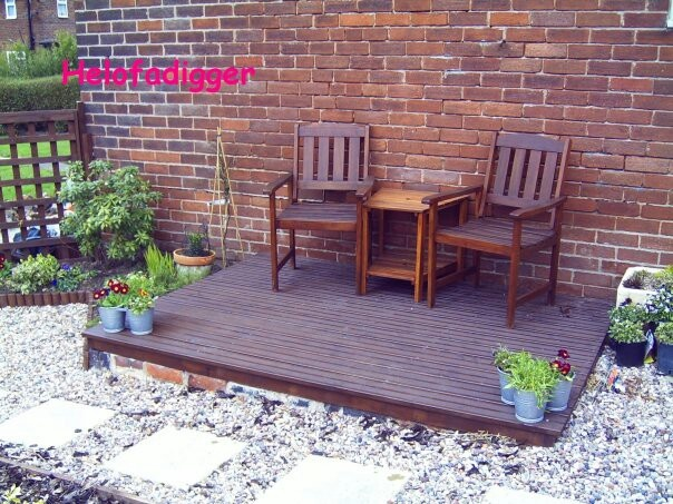 My small side decking from a couple of years ago.