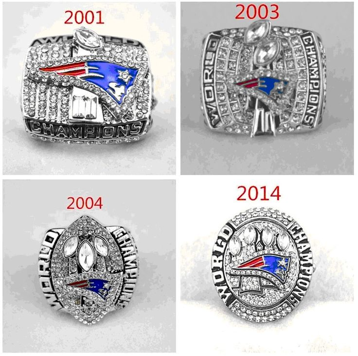 2001 2003 2004 2014 New England #Patriots Championship Ring 4 Together Set from $19.99
