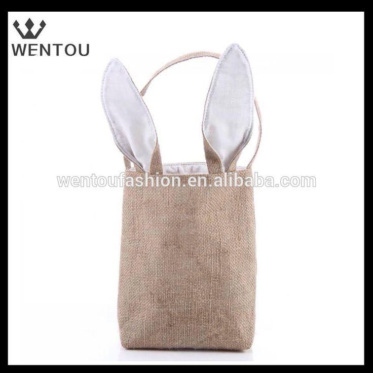 Wholesale burlap bunny Easter basket