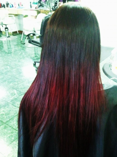 17 best images about burgundy ombre hair on pinterest black and red ombre dark brown and red - Ombre hair marron ...