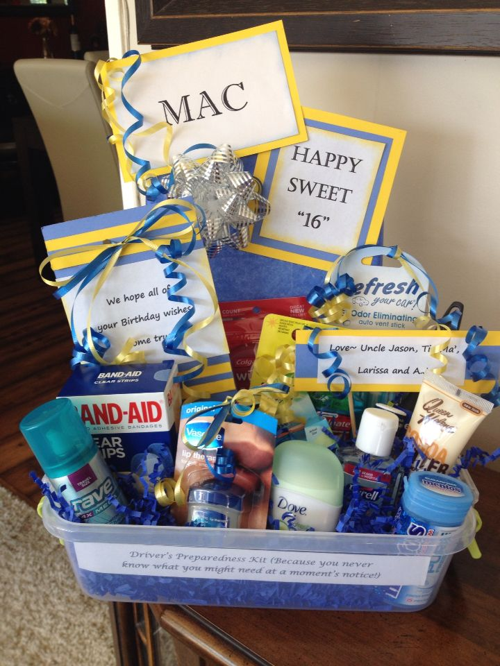 New Driver Gift Basket Put Emergency Items In A Plastic