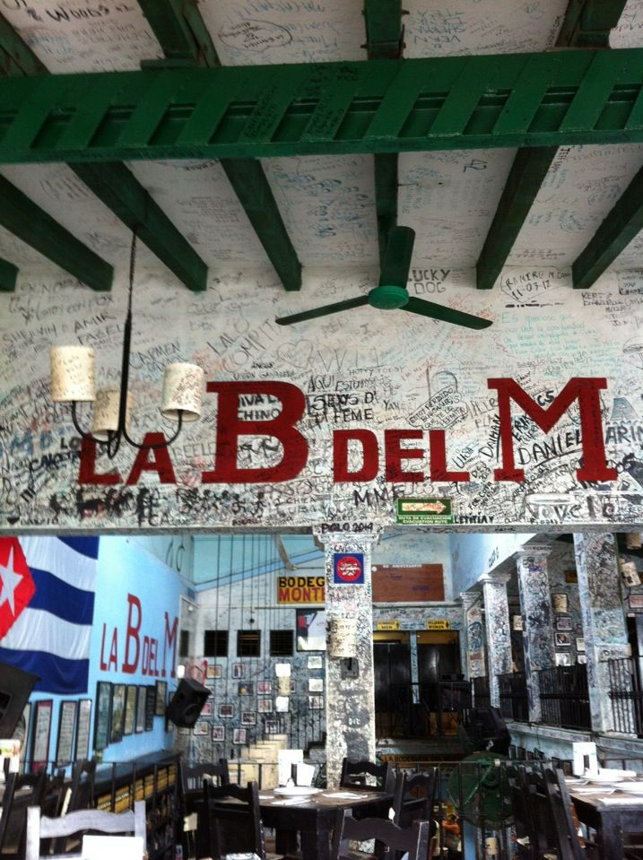 La Bodeguita del Medio - I hope my name is still in there ... its been years. Fun cuban restaurant.