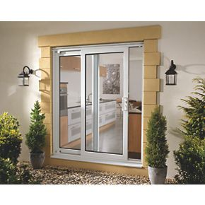 Order online at Screwfix.com. uPVC patio doors set comprising of fixed patio door, sliding patio door and patio door frame. FREE next day delivery available, free collection in 5 minutes.
