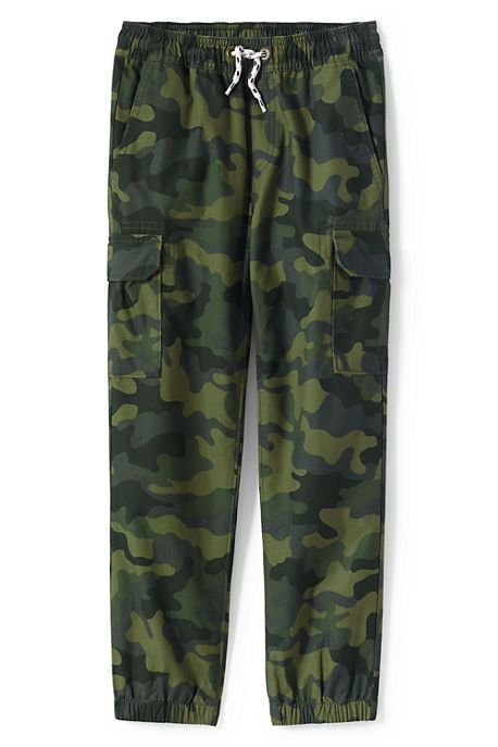 These pull-on joggers in a cool camo print are the go-to cargos for active boys — built to handle any roughhousing that goes on. The cargo pockets come in handy for hauling their goodies when on the go. And of course they pack legendary durability thanks to tough Iron Knees®.   Lands' End is your back to school smart stop.