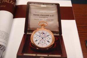 TERRY AHNER/TIMES NEWS A shot of the Stephen S. Palmer Patek Philippe Grand Complication watch, which sold for $2.25 million at the Important Watches sale held last week at Christie's Auction House in New York.