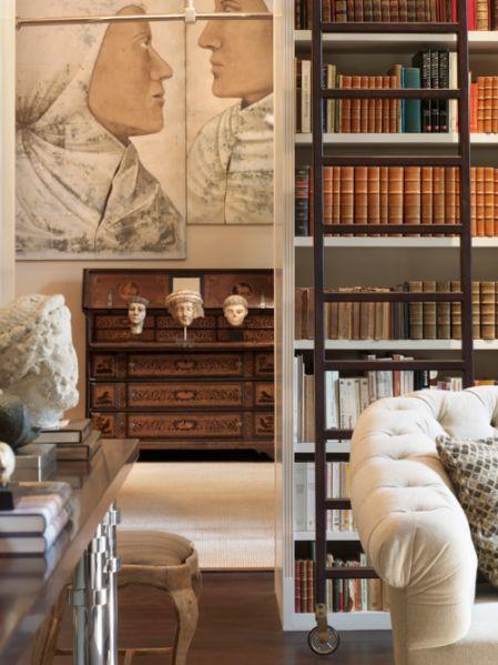 salon bibliothque par luis bustamante interiors room and living