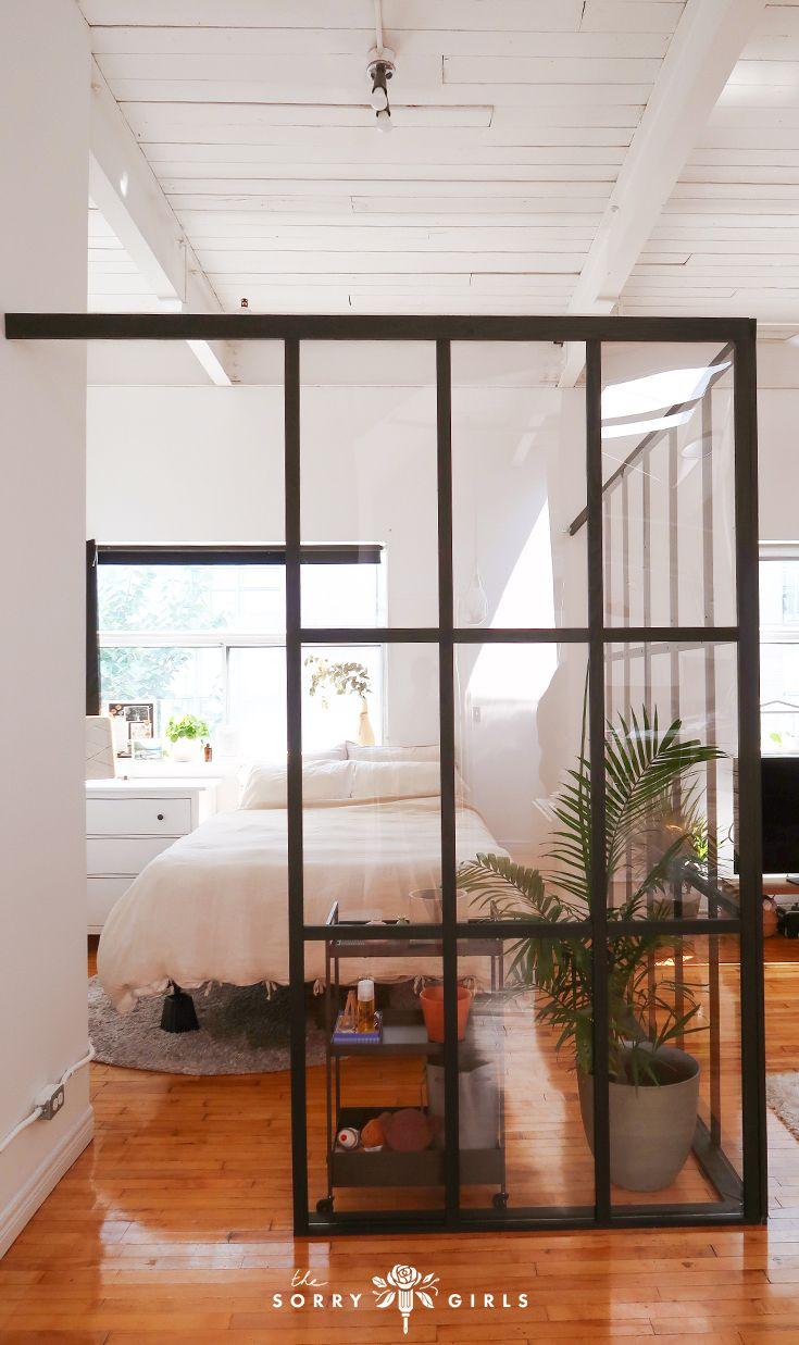 Diy Industrial Glass Wall Divider Modern Room Divider Divider Wall Glass Room Divider