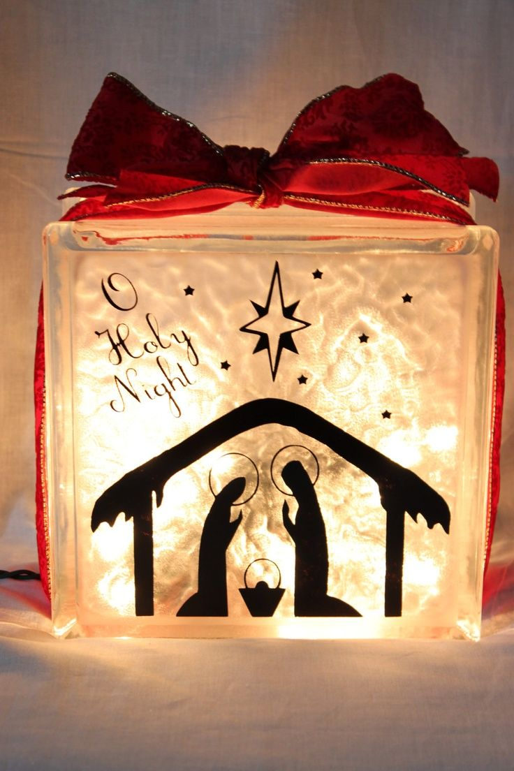 Best 25 lighted glass blocks ideas on pinterest glass for Santa glasses for crafts