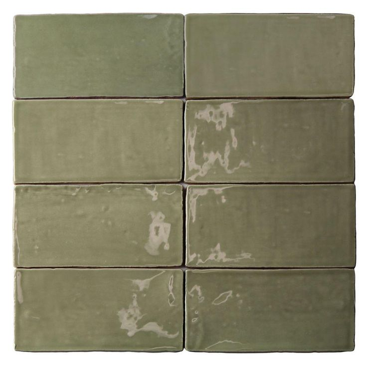 Ivy Hill Tile Catalina Kale 3 in. x 6 in. x 8 mm Ceramic Wall Subway Tile