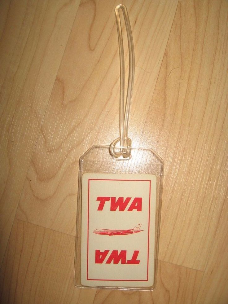 TWA Luggage Tag - Vintage Trans World Airlines Boeing 747 Playing Card Name Tag