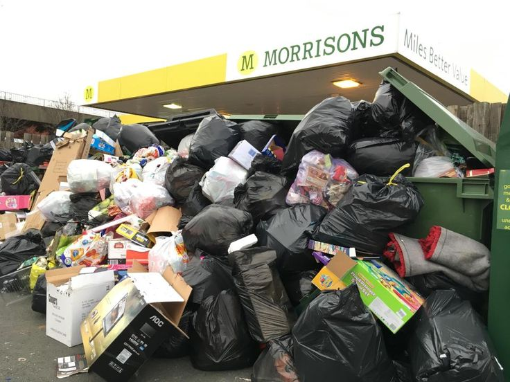 Tonnes of household rubbish dumped in supermarket car parks as impatient residents fly-tip Christmas waste instead of waiting for binmen