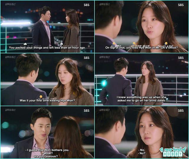na ri ask hwa shin if its his first kiss with hye won - Jealousy Incarnate - Episode 19 (Eng sub)