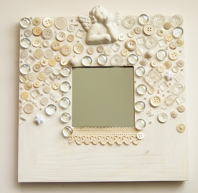 "craft mirror how about sea shells or ""junk"" jewelry?"