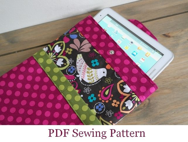 Sewing Pattern iPad Cover Tablet Sleeve PN206 PDF Sewing Tutorial £4.49