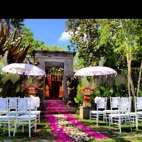 Bali Wedding - garden Balinese style.