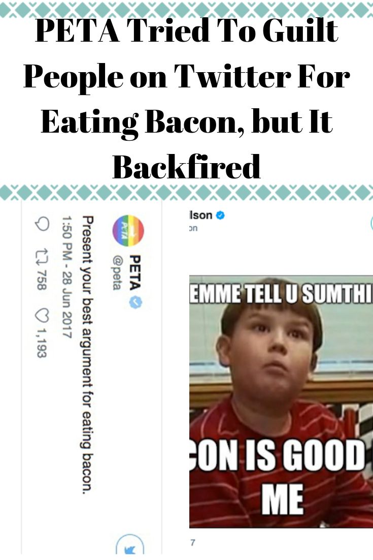 PETA Tried To Guilt People on Twitter For Eating Bacon, but It Backfired