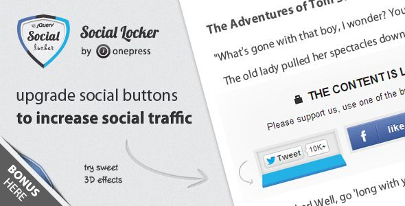 Social Locker for jQuery (Social Networks)
