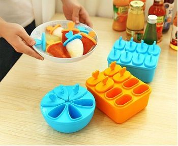 Two styles Ice Lolly Cream Maker Form Popsicle Molds Yogurt Ice Box Fridge Frozen Treats Freezer Ice Cream Tray Tools