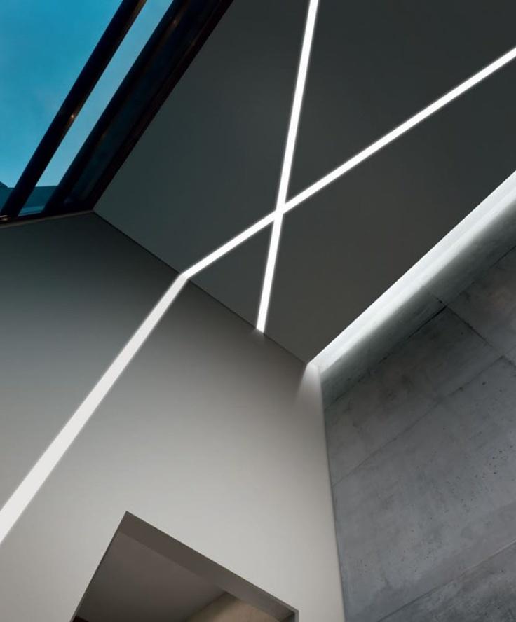 Gypsum built-in lamp for false ceiling XG1215 by @Panzeri Srl