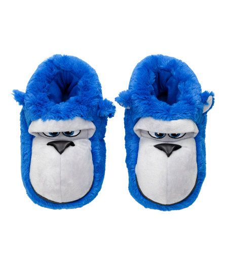 Faux Fur Slippers | Cornflower blue/gorilla | Kids | H&M US
