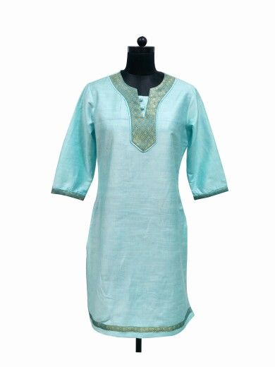 Simple & Elegant Cotton Silk Kurti by Guluzfashion