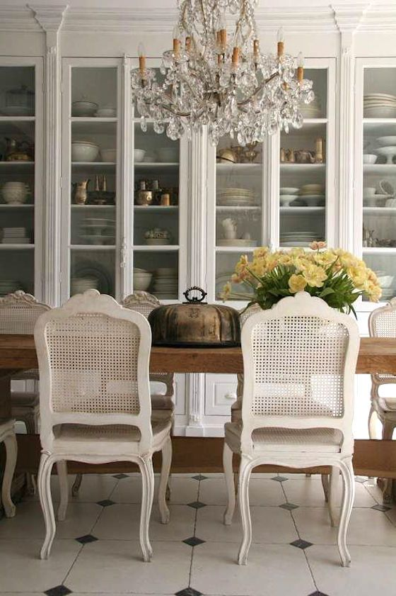 Cane Back Dining Room Chairs Painted White