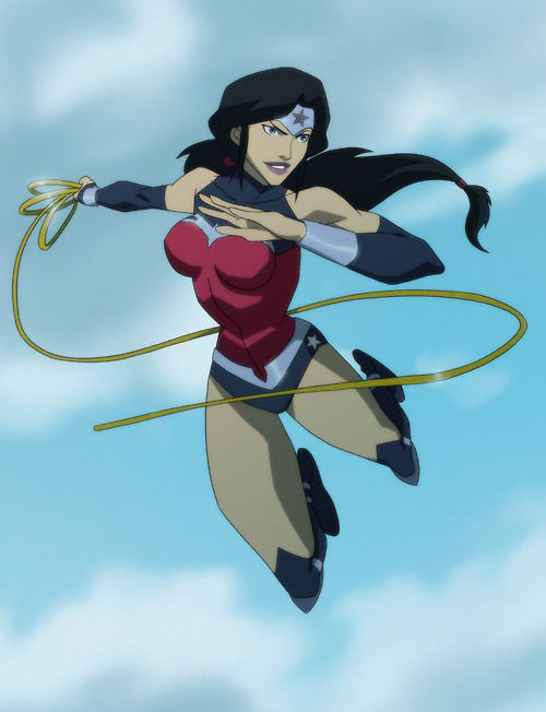 Wonder Woman(Justice League War)- nice design but she's written so horribly now in the New 52, which is what War is based on.I miss Bruce Timm & Dwayne McDuffie.