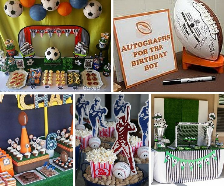 94 best images about max baby shower on pinterest for Athletic banquet decoration ideas