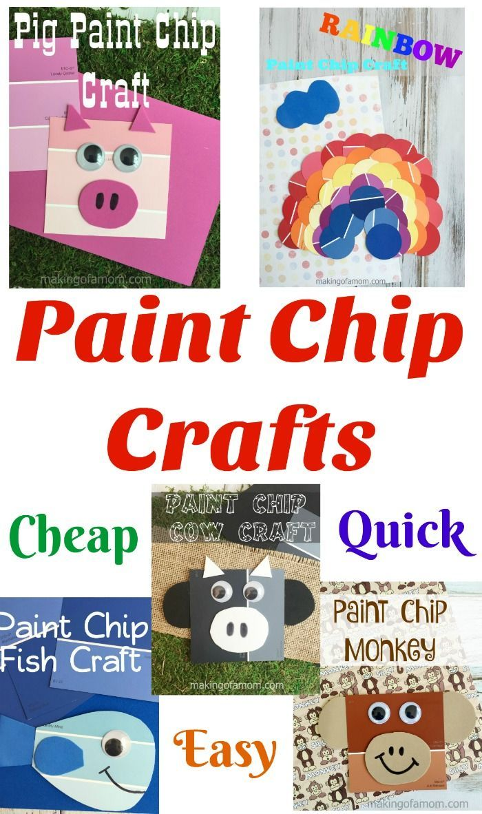 Paint Chip Crafts How To Make Slime Without Glue And Flour Solution For