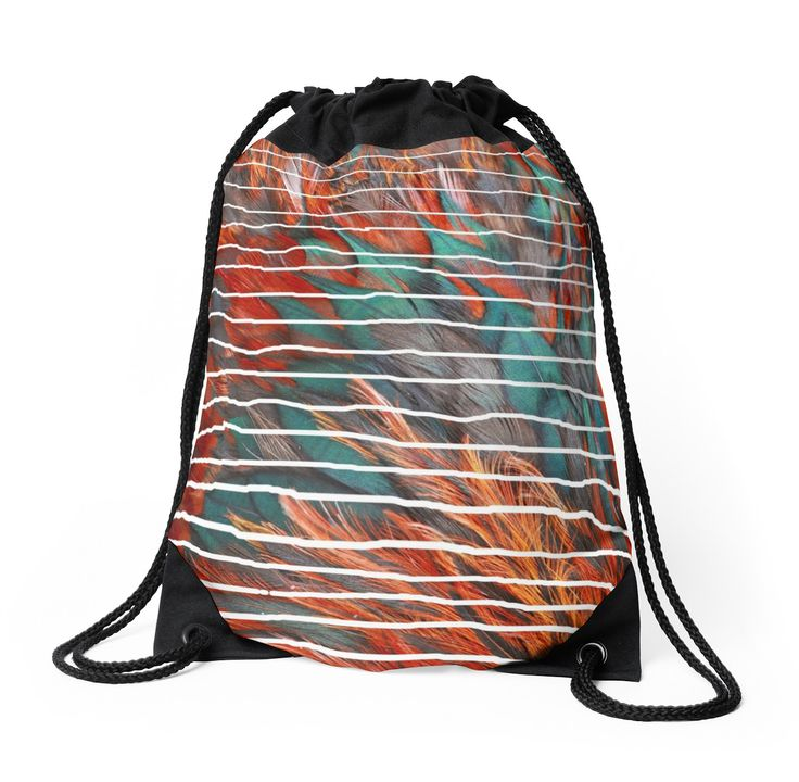 """A million colours/ You can cage a bird but you can t make it sing"" Drawstring Bags by Ioan Rosca Nastasescu 