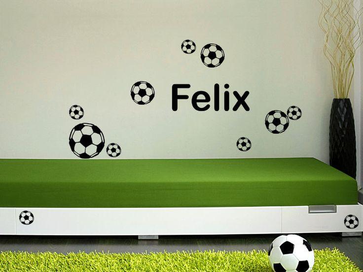 Das Wandtattoo Fußball-Set mit Namen hier bestellen. ✓ Große Auswahl | Top Qualität | schnelle Lieferung | kostenloser Versand (D) bei Wandtattoos.de.