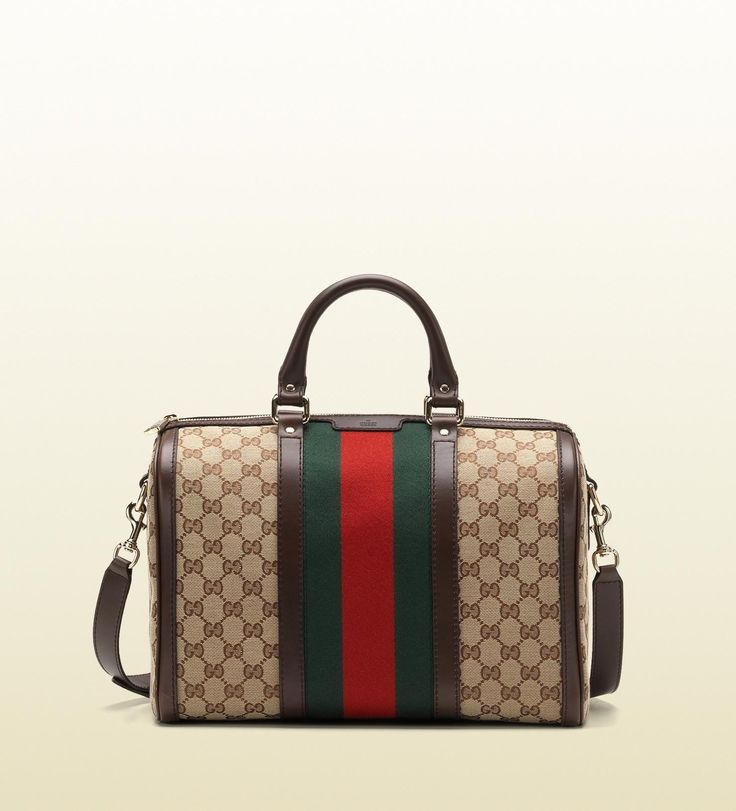 Gucci - Vintage Web Boston Bag-- Should I get this color or the navy blue one?