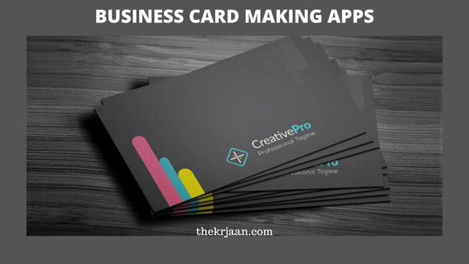 Best Business Card Making Apps Business Card App Cool Business Cards Create Business Cards
