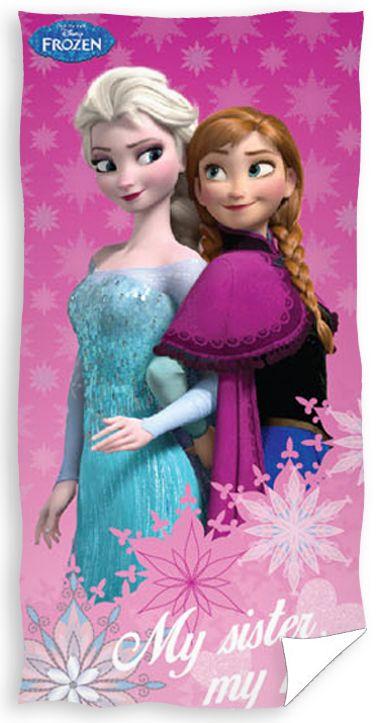 Anna i Elsa dziecięcy ręcznik różowy