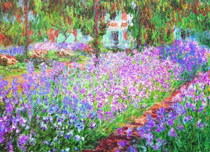 EuroGraphics The Artist's Garden by Claude Monet 1000-Piece Puzzle. The Artist's Garden in Giverny is of the most famous paintings by Claude Monet.