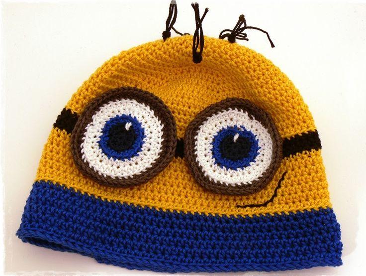 Jetzt eine tolle Mütze der Minions stricken oder häkeln. Super kostenlose Anleitungen. Das wird ein toller Hingucker!