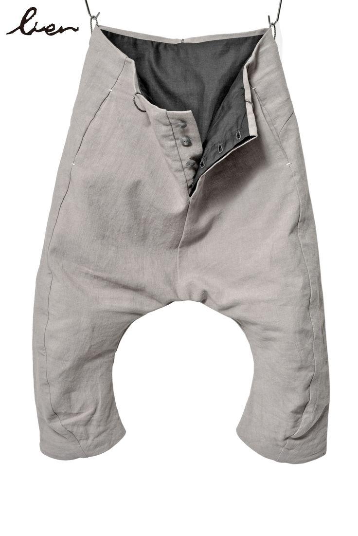 Lien - sarrouel anatomy cotton linen cropped pant