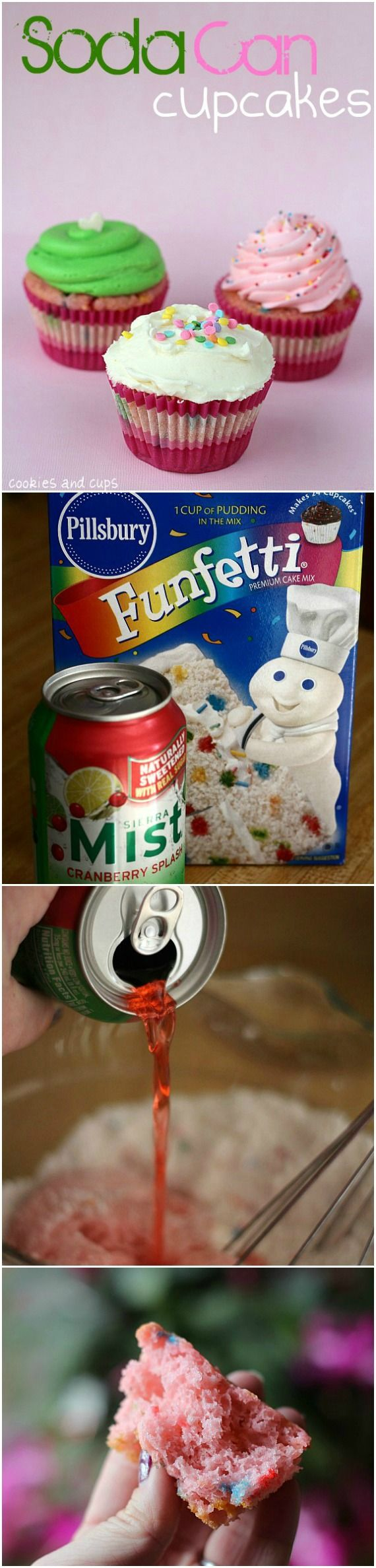 Soda cupcakes.. 2 ingredients, a can of soda and a box of cake mix! It's THAT EASY!
